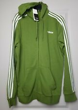Adidas Essential men's 3-stripe Full zip athletic jacket sz Large Tall green NEW