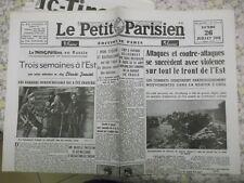 GUERRE 1939-1945 : JOURNAL LE PETIT PARISIEN 26 JUILLET 1943