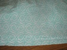 POTTERY BARN  Seafoam Green/White 100% Cotton Flat Sheet - Full