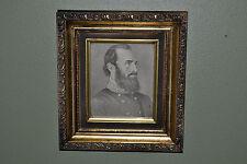 VTG Framed Civil War Confederate General Stonewall Jackson Framed Art Print