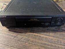 New ListingSony Slv-677Hf Vcr Hi Fi Vhs Recorder Player No Remote - Tested