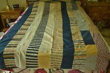 "Vintage/Antique Machine-Pieced ""Strips & Stripes"" Quilt-Top, 58"" x 89"" Twin M117"