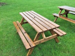 6 Seater picnic table, pub bench, commercial grade amazing value £124