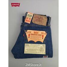 LEVI'S jeans LEVIS 501 Original Fit uomo blu denim Dritto Straight Vintage