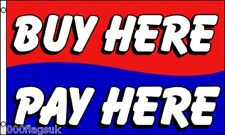 Buy Here Pay Here Shop Car Garage Sale Sign Advertising POS 5'x3' Flag !