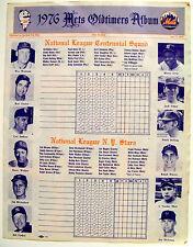 Shea Stadium NY Mets 7/17/76 Old Timers Game Program +Free Postcard & 69 Coaster