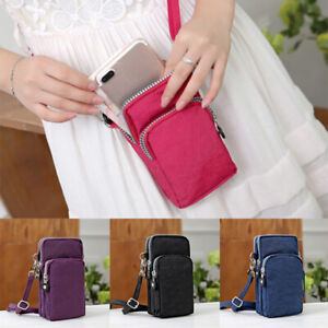 Women Girls Cross Body Mobile Phone Shoulder Wrist Pouch Bag Coin Purse Wallet