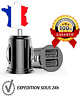 CHARGEUR VOITURE ALLUME CIGARE USB DOUBLE PORT 2 A UNIVERSEL IPHONE SAMSUNG iPAD