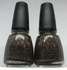 China Glaze Nail Polish CG in The City 990 Sheer Pewter Silver Glitter Lacquer