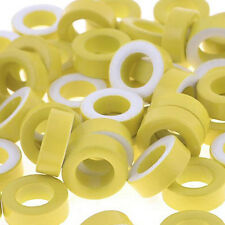 7mm Inner Diameter Ferrite Ring Iron Toroid Cores Yellow White 50PCS LW
