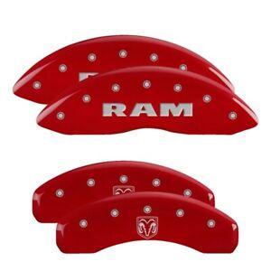 MGP 4 CALIPER COVERS Red for 2011-2018 Ram 1500 55001SRMHRD
