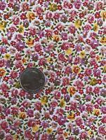 "Vintage Mini Flower Cotton Quilting Fabric 36 1/2"" Wide x 4 Yds Long Preshrunk"