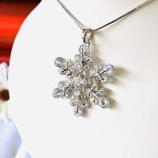 Collar De Cristal Austriaco copo de nieve.