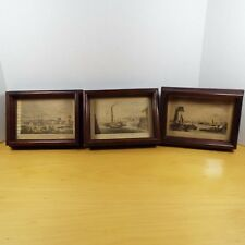 3 Vintage Framed Prints 1938 Artistic Picture Publish Co-Brooklyn,Detroit,Boston