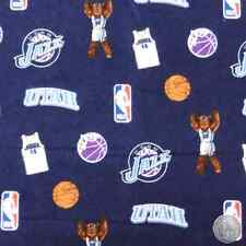NBA Utah Jazz Flannel Basketball Fabric