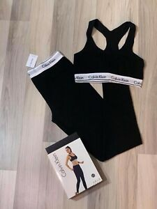 Calvin Klein Women's Set 2 Pack Leggings Bra Black Underwear