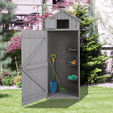 Outsunny Garden Wooden Shed Beach Hut Outdoor Tool Storage Cupboard Sentry Box