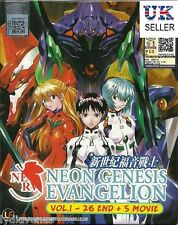 Anime Neon Genesis Evangelion Tv Series + 5 Movies ENGLISH Box Set - UK SELLER