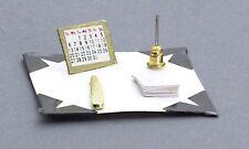 Dolls House Miniature 1:12th Scale Desk Blotter Set Study Accessory