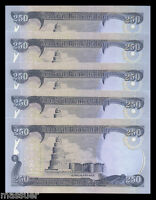 IRAQI DINAR 2500  10 X 250 DINAR NOTES   CRISP UNCIRCULATED Foreign Currency