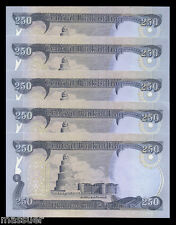 NEW IRAQI DINAR 2500 - 10 X 250 DINAR NOTES  UNCIRCULATED Wholesale Resale