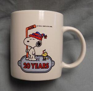 Rare Snoopy's Senior World Hockey Tournament 1994 Mug Peanuts Schultz 20th Year