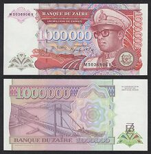 Zaire  1000000 Zaïres  31-7-1992  Pick 44  SC = UNC
