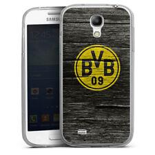 Samsung Galaxy S4 Silikon Hülle Case - BVB Holzoptik