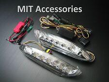 Porsche 911 997 Turbo 07-12 LED DRL Daytime running light+turn signal lamp-CLEAR