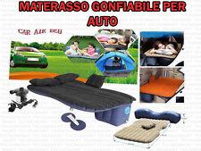 MATERASSO LETTO GONFIABILE AUTO CAMPEGGIO SUV CAMPER CON POMPA GONFIAGGIO