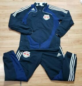 Adidas New York Red Bulls Blue Team Issued Tracksuit Jacket Pants Men's Small