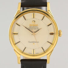 Vintage 18ct Yellow Gold Omega Chronometer Constellation Automatic Gents Watch