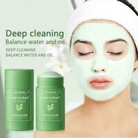 Green Tea Oil Purifying Clay Stick Mask Acne Blackhead Cleansings Removers O7R8