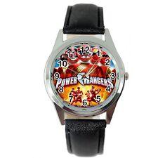 Power Rangers Powerrangers héroe película de película de Cuero Negro Reloj de Acero serie de TV