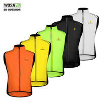 Men's Cycling Wind Vest Bike Bicycle Waistcoat Sleeveless Jersey Cycling Gilet