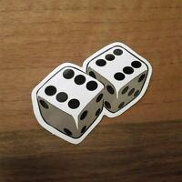 2x Würfel Aufkleber Dice Sticker Spieler Gambler Rockabilly Casino Würfeln Sechs