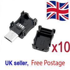 10x Micro USB 5 Pin T Port Male Plug Socket Connector & Plastic Cover UK Seller