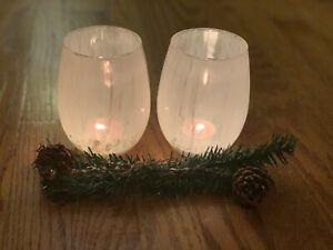 Rustic Christmas Votive Candle Holders