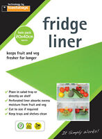 2 x Fridge Liners For Salad Drawer Food Fresh For Longer & Keeps Fridge Clean