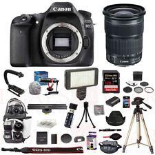 Canon EOS 80D Camera 24-105mm STM Lens Stabilizer Mic LED Bag 128GB Tripod Kit