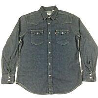 Levi's Men's Western Classic Long Sleeve Denim Button Up Pearl Snaps Shirt SZ M