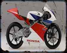 Honda Nsf250R A4 Metal Sign Motorbike Vintage Aged