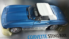 1:18 EXOTO MOTORBOX 1967 CORVETTE STINGRAY RAG TOP BLUE DIECAST READ ISSUE AS IS