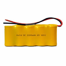 6 Volt NiCd Battery Pack (2100 mAh) with Leads