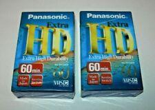 Pack 2 Cintas VHS-C Panasonic Extra HD EC-60 min. PAL / SECAM - precintadas