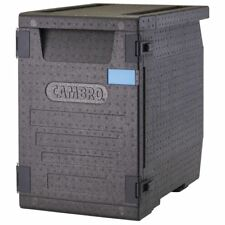 """Cambro Cam GoBox� Black Plastic Front Loading Pan Carrier - 25 2/5""""L x 17 3/10""""W"""