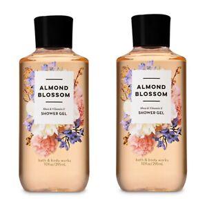 2~Bath and Body Works ALMOND BLOSSOM Shea + Vitamin E Shower Gel~  10 fl.oz.