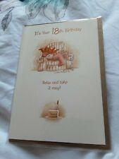 18th Birthday Card BNIP - bear, cake