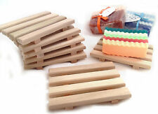 20 wood soap dishes $1.05 each - Handcrafted from natural wood made in USA