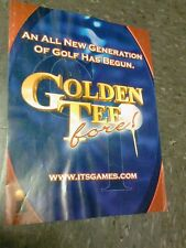 It Incredible GOLDEN TEE FORE! Arcade Video Game  flyer- good original opens up